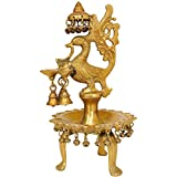 Exotic India Mayura Lamp - Brass