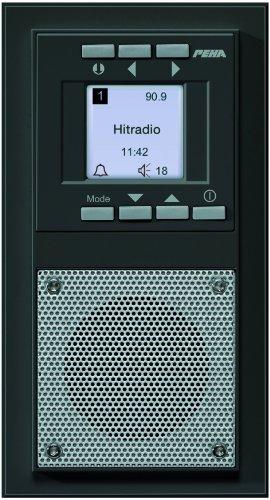 Peha D 20.485.64 Radio Unterputz-Radio im Aura-Design, anthrazit