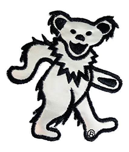 Application Grateful Dead Bear Chrome Patch - 1