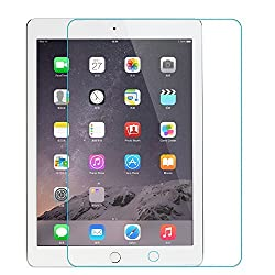 iPad Air 2 Screen Protector, DINGRICH Ultra-thin Highest Quality HD clear Premium Tempered Glass Screen Protector for iPad Air 2 9.7 Inch-Retail Package(1-pack)