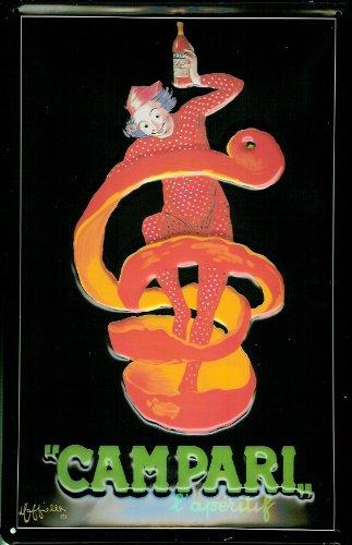 tin-plate-sign-20-x-30-cm-campari-clown-in-super-quality-original-licensed-replica