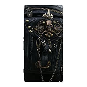 Delighted Zip Chain Back Case Cover for Sony Xperia Z1