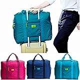 mark zenis スーツケースの持ち手に通せる 旅行バッグ 機内用 折りたたみ 予備バッグ 黒