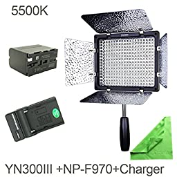 YONGNUO YN300 III YN-300 III LED Camera Video Light with 5500k Color Temperatur e and Adjustable brightness for Canon Nikon Pentax Olympas Samsung