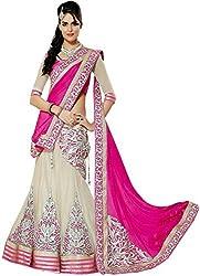 Svm Womens Net Lehenga Choli (Drs-Mk-Choli01-Pink1 _Multi Colour _Free Size)