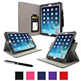 rooCASE Apple iPad Air Case - Slim Dual-View Case for Apple iPad 5 Air (5th Gen) Tablet, BLACK (With Smart Cover Auto Wake / Sleep)