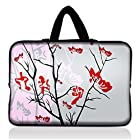 11.1 11.6 12.1 12.2 inch Neoprene Soft Chromebook Carrying bag Laptop Sleeve Case with Hide Handle for Macbook Pro Air 11/Samsung Google 11.6 Chromebook/Acer C710 C720 C720P C7 11.6-Inch Series ChromeBook Laptop/Samsung Chromebook 2/Samsung Series 3 11.6 inch/Dell Chromebook 11/ASUS Chromebook C200MA/HP Chromebook 11/Lenovo THINKPAD Helix (Pink Sparse Floral Flowers)