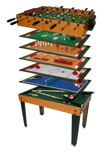 Dema Tischfu�ball Multigame 13 in 1, schwarz/braun