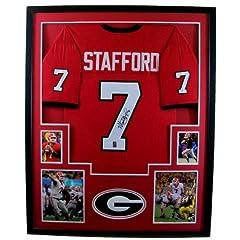 Matt Stafford Framed Jersey Signed GTSM COA Autographed Georgia Bulldogs
