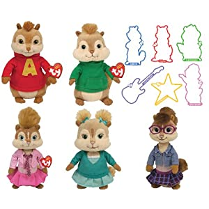 Ty Beanie Baby Jeanette Chipmunks