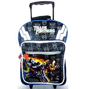 Transformers Large Black Padded Backpack Roller Trolley Wheeled Bag 301648 from TRANSFORMERS