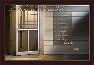 In this House we do Second Chances by Marla Rae House Quote 19.5x13.5 Wall Art Print Framed Picture