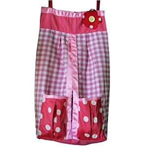 Diaper Stacker by Kadambaby - Pink checks