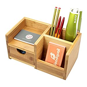 Desk Organiser, Pen Holder and Drawer Desk Tidy of 4 Compartments ...