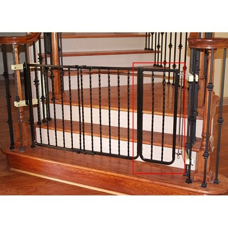 Wrought iron decor gate extension bronze pet gates for Iron accents promo code