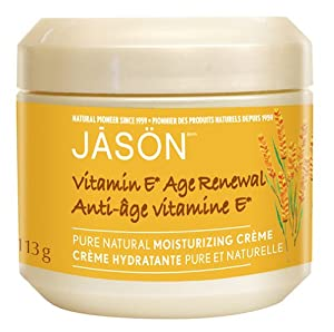 JASON Age Renewal Vitamin E 25,000 I.U. Moisturizing Creme, 4 Ounce Jars (Pack of 2)