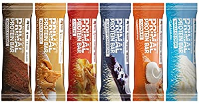 Primal Protein Bar (Variety) (190 Cal / 20g Grass-Fed Whey Protein) (6 Flavors) 12 Bars (From 5 Net Carbs)