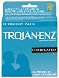 Trojan-Enz Latex Condoms, Lubricated, 36-Count Boxes (Pack Of 2)