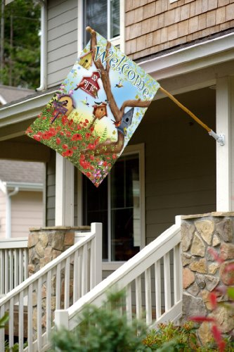 Toland Home Garden Poppies And Birdhouses House Flag