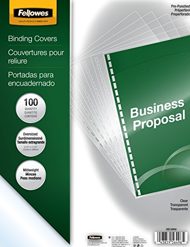 Fellowes Crystals Clear Pre-punched Binding Cover
