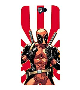 EPICCASE iron man with gun Mobile Back Case Cover For HTC One A9 (Designer Case)