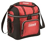 Coleman 9-Can Soft Cooler With Hard Liner, Red