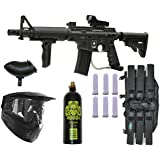 US Army Alpha Black Elite Paintball Marker Gun 3Skull Deluxe Package Set