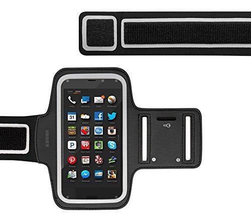 KHOMO Amazon Fire Phone Armband Case - Black Sweat Proof Sport Armband + Key Holder for Amazon Fire Phone (Amazon Phone Armband compare prices)