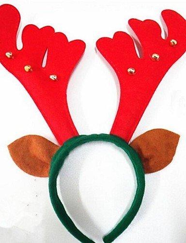 Christmas Party Cute Deer Antlers Hat with Bells Hair Head Band