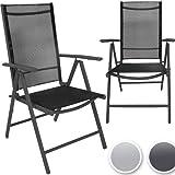 2 chaises de jardin en aluminium - 55cm x 67cm x 110 cm DIVERSES COULEURS AU CHOIX