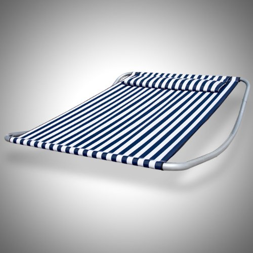 Swimming Pool Side Lounger Double Hammock Bed Chair Stripe Patio Outdoor