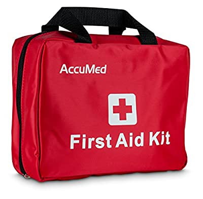 AccuMed Complete First Aid Kit 85-Piece Kit w/ 23 Unique Items - Perfect for Home, Office, School, Camping & Hiking, and More! by AccuMed