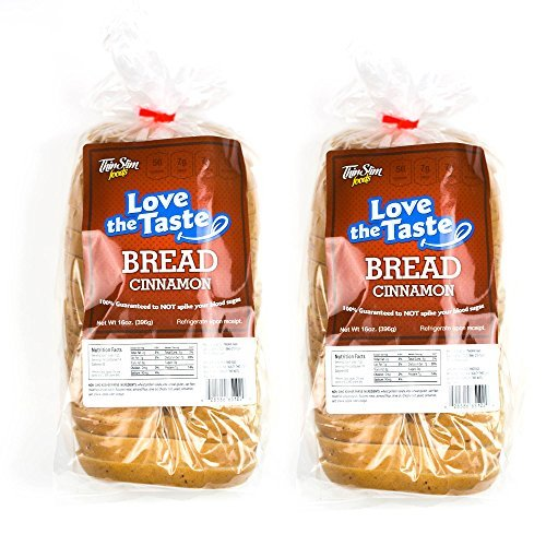 ThinSlim Foods Love-The-Taste Low Carb Bread, 2pack (Cinnamon) (Cinnamon Bread compare prices)