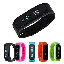 Forestfish Bluetooth Sync Smart Bracelet Sports Fitness Tracker Smart Wristband Water Resistant Tracker Bracelet Sleep Monitoring Anti-lost Smart Watch by TOP-A