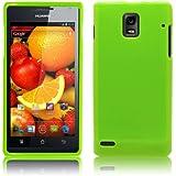 PrimaCase - Grün TPU Silikon Case für Huawei Ascend P1