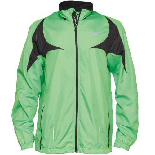 Brooks Mens Nightlife Running Jacket II Green