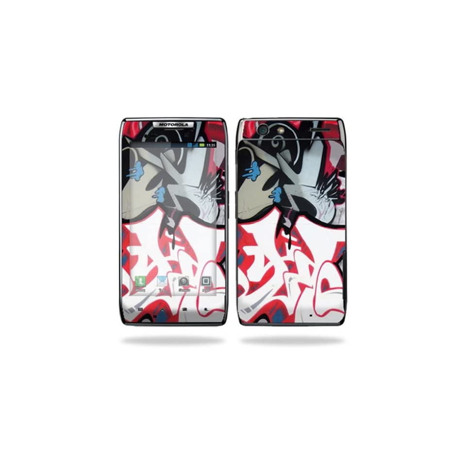 Protective Vinyl Skin Decal Cover for Motorola Droid Razr Maxx Android Smart Cell Phone Sticker Skins   Graffiti Mash Up