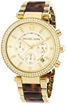 Michael Kors Watches Parker (Gold and Tortoise)