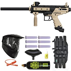 Buy Tippmann Cronus Paintball Marker Gun -Basic Edition- Tan Player Package by Tippmann