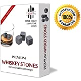Premium Whiskey Sipping Stones (Set of 9). 100% Pure Soapstone -- Includes Carrying Pouch and Light Gift Box