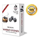 Premium Whiskey Sipping Stones (Set of 9). 100% Pure Soapstone...