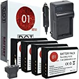 4x DOT-01 Brand 2000 MAh Replacement Canon LP-E10 Batteries And Charger For Canon EOS Rebel T5 EOS Rebel T3 Digital SLR Camera And Canon LPE10