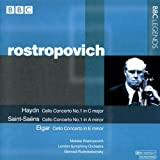 ハイドン:チェロ協奏曲第1番/サン=サーンス:チェロ協奏曲第1番/エルガー:チェロ協奏曲(ロストロポーヴィチ/ロジェストヴェンスキー)(1965)