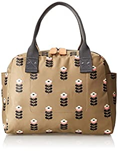 Orla Kiely Buttercup Stem Printed Nylon Zip Shoulder Bag,Sand,One Size