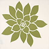 Wabisabi Green Bloom Modern Fabric Dinner Napkins, 18 by 18-Inch, Floral, Green and Cream, Set of 4