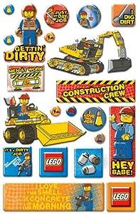 Lego Epoxy Stickers, City Construction/Phrase