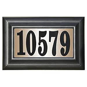 Classic Rectangular Plastic Lighted Address Plaque: Home Improvement