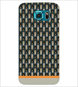 PrintDhaba Pattern D-1604 Back Case Cover for SAMSUNG GALAXY S6 (Multi-Coloured)