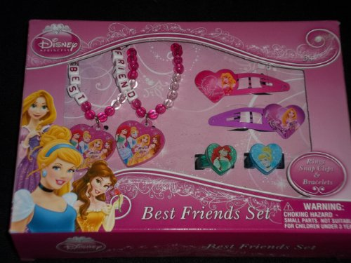 Disney Princess Best Friends Bracelets, Rings & Hair Clips Set