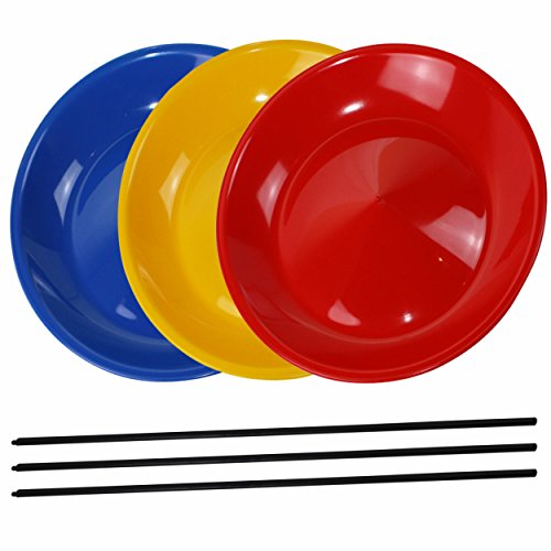 3-Spinning-Plates-Juggling-Plates-with-Plastic-Stick-Mixed-Colours-Sold-by-SchwabMarken